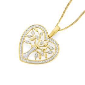 9ct-Gold-Diamond-Tree-of-Life-Heart-Pendant on sale