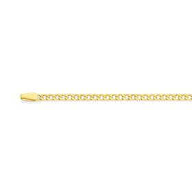 9ct-Gold-50cm-Solid-Concave-Curb-Chain on sale