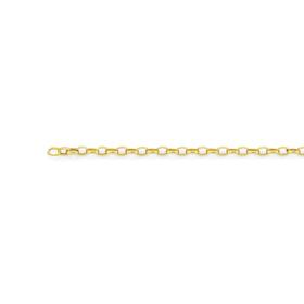 9ct-Gold-45cm-Hollow-Oval-Belcher-Chain on sale