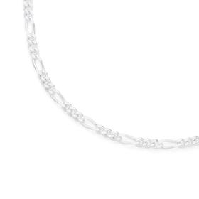 Silver-50cm-Solid-Figaro-31-Chain on sale