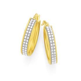 9ct-Gold-15mm-Stardust-Glitter-Pave-Hoop-Earrings on sale