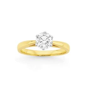 18ct-Gold-Diamond-Solitaire-Ring on sale