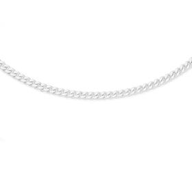 Silver-45cm-Dia-Cut-Solid-Curb-Chain on sale