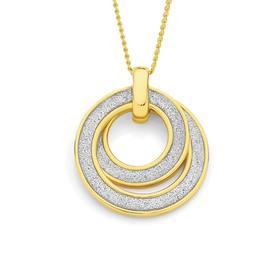9ct-Gold-Stardust-Glitter-Pendant on sale