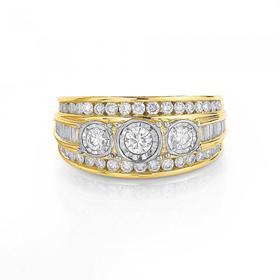 9ct-Gold-Diamond-Wide-Dress-Ring on sale