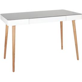 Monaco-Glass-Top-Office-Desk-White on sale