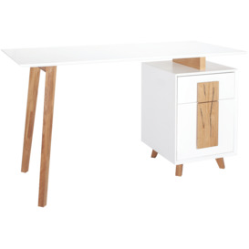 Isaac-Single-Draw-Office-Desk-White on sale