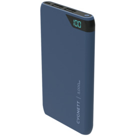 ChargeUp-5000-mAh-Dual-USB-Powerbank-Navy on sale
