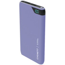 ChargeUp-5000-mAh-Dual-USB-Powerbank-Lilac on sale