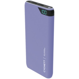 ChargeUp-10000-mAh-Dual-USB-Powerbank-Lilac on sale