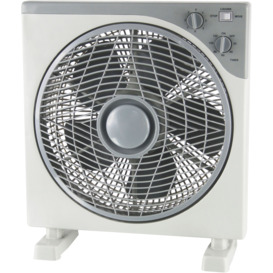30cm-WhiteGrey-Box-Fan on sale