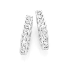 9ct-White-Gold-Diamond-Huggie-Earrings on sale
