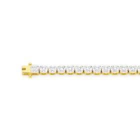 9ct-Gold-Diamond-Tennis-Bracelet on sale