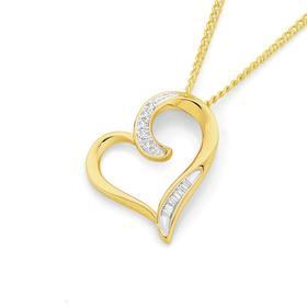 9ct-Gold-Diamond-Open-Heart-Pendant on sale