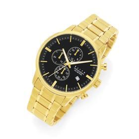 Elite-Mens-Gold-Tone-Watch on sale