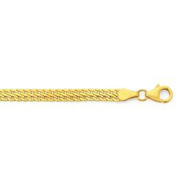 9ct-Gold-19cm-Herringbone-Link-Bracelet on sale