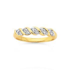9ct-Gold-Diamond-Swirl-Anniversary-Band on sale