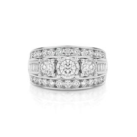 9ct-White-Gold-Diamond-Wide-Trilogy-Dress-Ring on sale