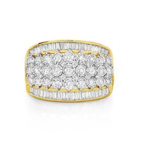 9ct-Gold-Wide-Diamond-Dress-Band on sale