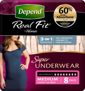 Depend-Real-Fit-Underwear-Super-for-Women on sale