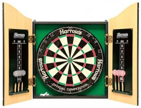 Harrows-Pro-Choice-Dartboard-Cabinet-Set on sale