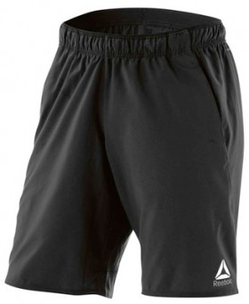 Reebok-Mens-Workout-Ready-Graphic-Shorts-Black on sale