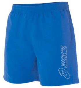 Asics-Mens-Essential-Logo-5-Shorts-Blue on sale