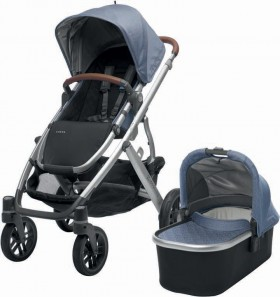 UPPAbaby-Vista-2017-with-Bassinet-Blue-Marl-Henry on sale