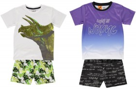 Boys-Foil-Print-PJ-Sets on sale
