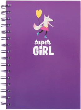 A5-Spiral-Notebook-5-Subject-240-Pages-Purple on sale