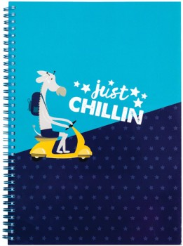 A4-Spiral-Notebook-160-Pages-Blue on sale