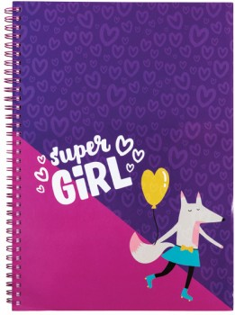 A4-Spiral-Notebook-160-Pages-Pink on sale