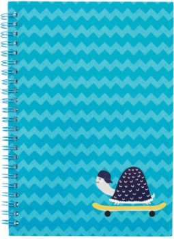 A5-Spiral-Notebook-160-Pages-Blue on sale