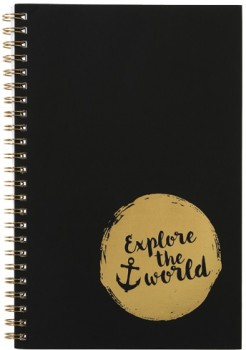 A5-Spiral-Notebook-120-Pages-Gold on sale
