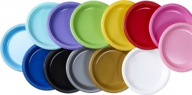 Amscan-Plastic-Plates-22.9cm-20-Pack on sale
