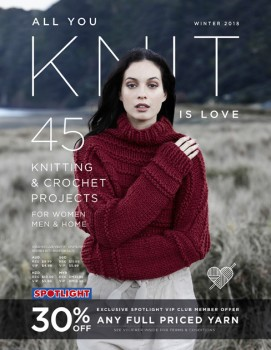 NEW-All-You-Knit-is-Love-Pattern-Book on sale