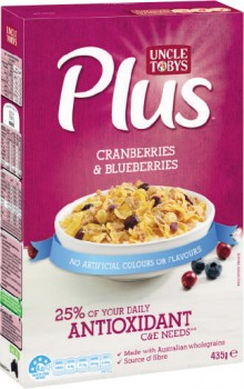 Uncle-Tobys-Plus-Cereal-385g-435g on sale
