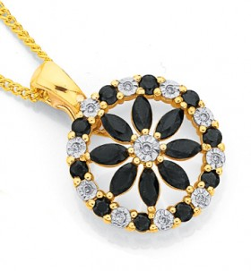 9ct-Gold-Black-Sapphire-Enhancer on sale