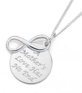 Sterling-Silver-Love-You-Forever-Mum-Pendant on sale