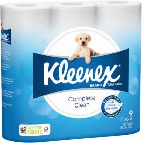 Kleenex-Complete-Clean-Toilet-Tissue-9-Pack on sale