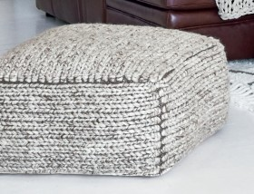 Romain-Pouffe-65x65x30cm-in-Grey on sale