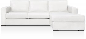 Signature-Contemporary-2-Seat-Leather-Modular-with-Chaise-in-Frost on sale