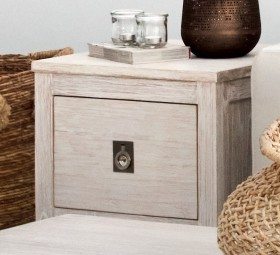 Cancun-Side-Table-1-Drawer-Whitewash on sale