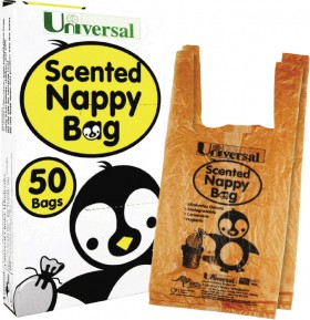 Universal-Bag-Nappy-Disposable-Scented-Biodegradable on sale
