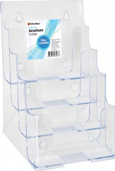 OfficeMax-Freestanding-Brochure-Holder-A5-4-Tier on sale