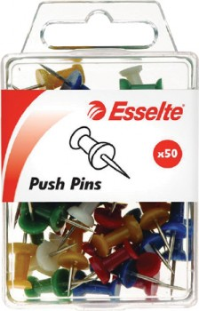 Esselte-Push-Pins-Stainless-Steel-Pack-50 on sale