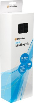 OfficeMax-A4-10mm-Plastic-Binding-Coils-Pack-100 on sale