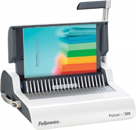 Fellowes-Pulsar-300-Plastic-Comb-Binding-Machine on sale