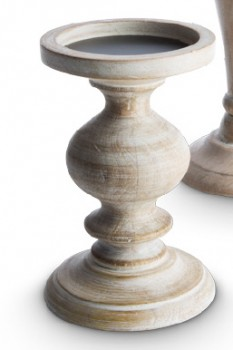 Heritage-Natural-Mangowood-Candle-Pillar-Small on sale