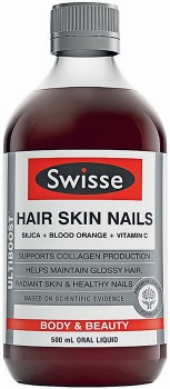 Swisse-Ultiboost-Hair-Skin-Nails-500mL on sale